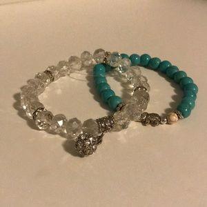 TWO charm bracelets
